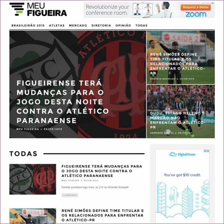 Homepage do blog Meu Figueira